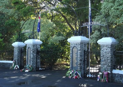 Memorial Entrance Greytown Campground